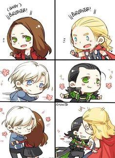 OMG!it's so cute and so true!!!!!!#ThorandLoki#Marvel