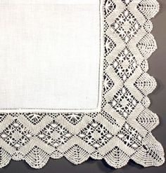 BOBBIN LACE VINTAGE STYLE CHEVRON SPIDERS EXQUISITE PILLOW COVER  #pillow #pillowcases #linen #lace #battenburg #bedding