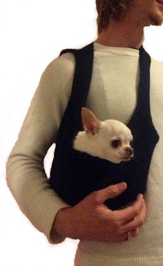 Cross Body Sweater Pet Tote Small Dog Carrier by by HeartPup