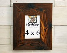 "4x6  Charcoal Wood [Chunky x 3""] Picture Frame"