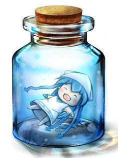 See more 'Bottle Meme' images on Know Your Meme! Light Bulb Jar, Anime Chibi, Manga Anime, Glass Cages, Bottle Drawing, Galaxy Pictures, Anime People, Moon Art, Bottle Art