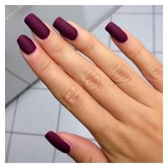 Nail polish: nails burgundy burgundy dark acrylic nails nail art matte... ❤ liked on Polyvore featuring beauty products, nail care, nail polish, art nail polish and sticker nail polish