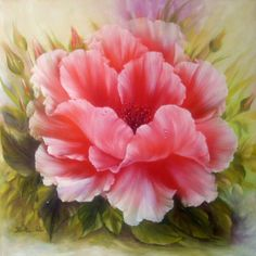 floral rose painting