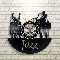 Clocks Jazz Art Music Dance_Exclusive Wall Clock Made Of Vinyl Record_Gift_Art Decor & Garden Wall Clock Gift, Clock Art, Jazz Art, Record Wall, How To Make Wall Clock, Unique Wall Clocks, Thing 1, Vinyl Art, Unique Home Decor