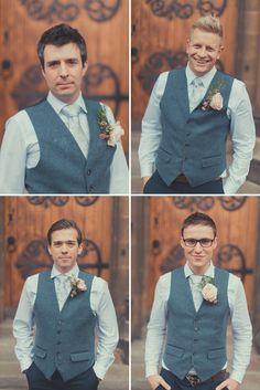 Handcrafted Rustic Marquee Wedding Waistcoat Groomsmen http://jamesgreenphotographer.co.uk/