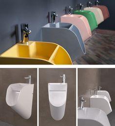 Mictório que 'obriga' a lavagem das mãos depois do uso