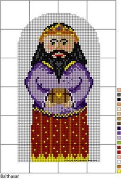 Nativity Series - Three Kings Needlepoint Pattern Set: Balthasar