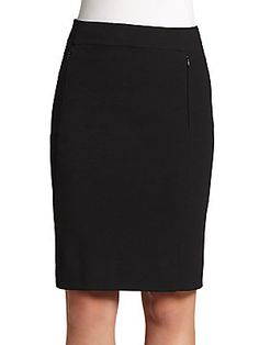 """Diane von Furstenberg New Koto Pencil Skirtabsolute wardrobe must-have, this undeniably chic skirt has zippered slash pockets and a slim fit that works wonders with any top. Side zipper Zippered slash pockets About 22"""" long Viscose/polyamide/elast"""
