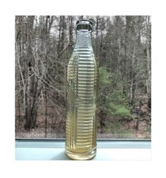 Antique Orange Crush Beverage Bottle 7 oz. 1920 Clear Krinkly | Etsy Glass Bottles, Glass Vase, Teddy Bear Design, Back Read, Orange Crush, Victorian Christmas, Or Antique, Vintage Ceramic, White Ceramics