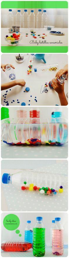Las botellas sensoriales estimulan los sentidos de los niños y ¡es muy sencillo hacerlas!