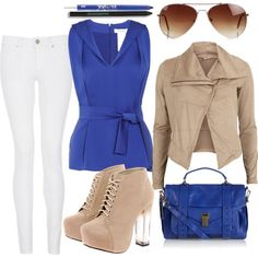 """""""Blue nude"""" by csuummer on Polyvore"""