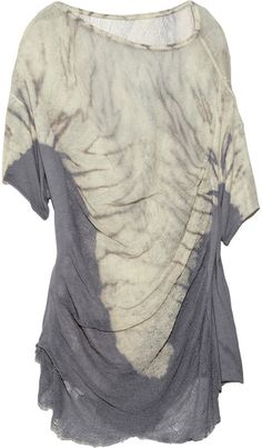 Tie-dye Distressed Cotton-blend Top - Lyst
