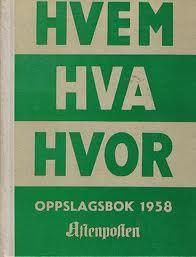 """""""Hvem hva hvor 1958 - Aftenpostens oppslagsbok"""" av Aftenposten Childhood Memories, Teen, Reading, Books, Livros, Book, The Reader, Libri, Reading Books"""