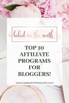 Top 10 Affiliate Programs for Bloggers!  www.bakedinthesouth.com