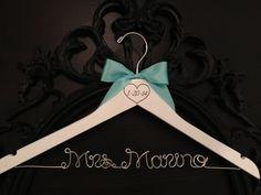 Wedding Hanger / Engraved Hanger / Rustic Brides by GetHungUp, $32.00