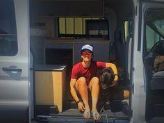 Safe travels Virginia, Sebastian, and Georgia! Minivan Camper Conversion, Cargo Trailer Conversion, Sprinter Van Conversion, Van Conversion Kitchen, Van Conversion Interior, Mercedes Sprinter Camper Van, Benz Sprinter, Campervan Interior, Campervan Bed