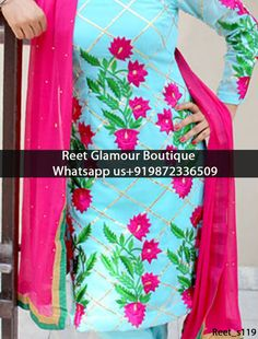 Enthralling Blue And Magenta Embroidery Pent style designer Suit Give yourself a stylish & punjabi look with this Enthralling Blue And Magenta Embroidery Pent style designe Suit. Embellished with lace work. Available with matching bottom & dupatta. It will make you noticable in special gathering. Product codes119 Contact or whats aap us 9872336509 reetglamour@gmail.com