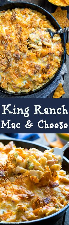 The mac and cheese version of King Ranch Casserole. This is one of the most flavorful mac & cheese's you will ever taste. A little spicy and has a crushed Dorito topping!