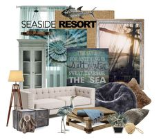 """""""the bunny and the sea"""" by pillerinne ❤ liked on Polyvore featuring interior, interiors, interior design, home, home decor, interior decorating, Universal Lighting and Decor, Pottery Barn, Dot & Bo and Ralph Lauren"""