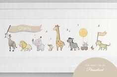 framed safari parade print by daisy & bump nursery art | notonthehighstreet.com