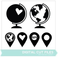 Globes Digital Cut Files - Two Peas in a Bucket - i want this on my laptop in vinyl!