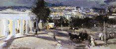 Konstantin Korovin (Russian 1861–1939) [Impressionism, Art Nouveau] Sevastopol in the evening, 1915.
