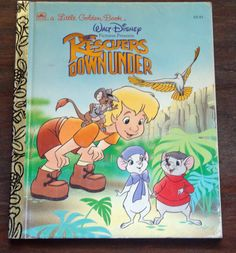 Walt Disney Picture Presents THE RESCUERS DOWNUNDER (A Little Golden Book 105-70) adapted by Michael Teitelbaum, illustrated by Franc Mateu 1990 (card # 89-82146 ISBN: 0-307-00082-6)