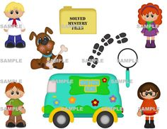 DIGITAL SCRAPBOOKING CLIPART  It's A Mystery by BoxerScraps, $1.00