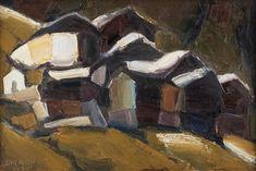 Häusergruppe mit kleiner Kapelle par Herbert Danler Painting, Art, Art Background, Painting Art, Kunst, Paintings, Performing Arts, Painted Canvas, Drawings