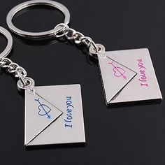 """5.99$  Watch now - http://viywy.justgood.pw/vig/item.php?t=1fc6jq57340 - Keychain 2x Lover's Keyrings Envelope """"I love you"""" 5.99$"""