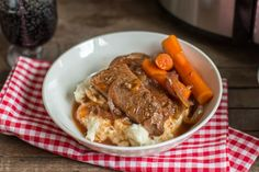 Slow Cooker Red Wine Beef Brisket - The Magical Slow Cooker