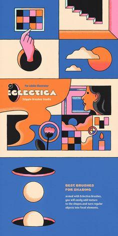 Graphic Design Posters, Graphic Design Illustration, Digital Illustration, Layout Inspiration, Graphic Design Inspiration, Design Movements, Design Thinking, Design Reference, Retro Design