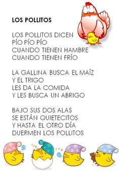 Los pollitos Class Activities, Spring Activities, Infant Activities, Spanish Lesson Plans, Spanish Lessons, Spanish Class, Spanish Songs, Finger Plays, Shared Reading