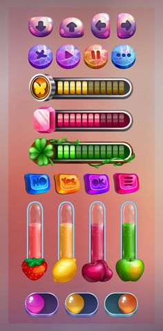 Game Gui, Game Icon, Slot Machine, Level Design, Ui Buttons, Button Game, Game Ui Design, Game Props, Game Interface