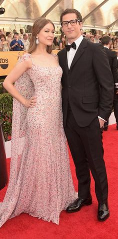 SAG 2015 Red Carpet Arrivals - Joanna Newsom and Andy Samberg from #InStyle