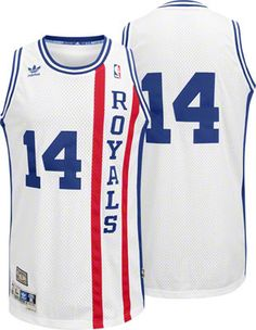 Oscar Robertson Jersey  adidas White Throwback Swingman  14 Cincinnati  Royals Jersey Basketball Kit abeae638f