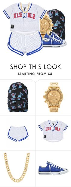 """""""Tell me again"""" by queen-tiller ❤ liked on Polyvore featuring Disney, Nixon, Dukes and Converse"""