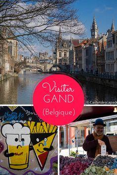 Visiter Gand (Gent) en Flandre en Belgique - Balade dans le centre médiéval, tour de bateau, promenade dédiée au street-art et atelier chocolat.