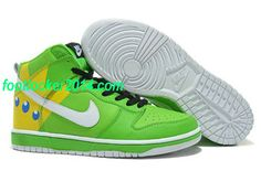 cheap for discount d1087 823ff Buy Men s Nike Dunk High Shoes Green Black White Yellow Cartoon New Release  from Reliable Men s Nike Dunk High Shoes Green Black White Yellow Cartoon  New ...