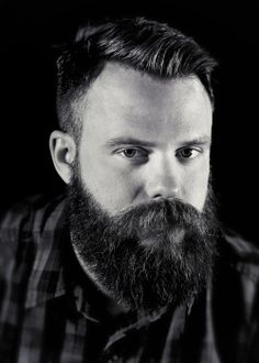 A wonderful beard on a handsome man.