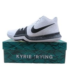 online store 0ff07 a5c30 Nike Kyrie 3 TB Basketball Shoes Size 11 Mens Cookies White Black 917724  100  Nike