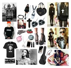 """""""Punk"""" by louiseabunn ❤ liked on Polyvore featuring Witch Worldwide, Vivienne Westwood, Bebe, Yves Saint Laurent, Y.R.U., NoHours, OBEY Clothing, Sourpuss, Killstar and The Ragged Priest"""