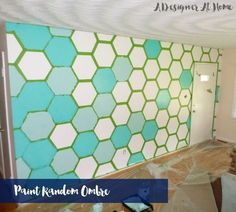 how to tape paint hexagon patterned wall, how to, paint colors, painting, wall decor, Painting individual hexagons for ombre