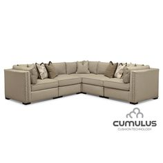 Empirical Comfort. With its sandy taupe hue and its low profile, the Athens sectional sofa from Ultimate Comfort by Kroehler™ makes a magnificent addition to many design styles. Detached cushions are made with Cumulus Cushion Technology™, a high-density foam core surrounded by gel support that's wrapped up in soft down feathers for the ultimate in relaxation. Meanwhile, soft, cool upholstery invites you to sit, lounge, nap and generally stay for a long while. Accent pillows round out the…