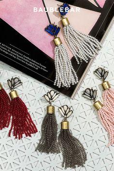 Beaded tassels in beautiful hues for #fall. #earrings #jewelry