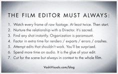 Film Editor rules