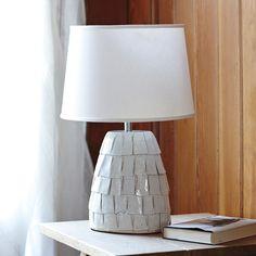 Bolinas Ceramic Lamp – White Shade   Serena & Lily