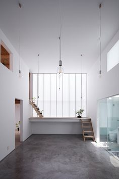 Shoji Screen House is a minimal residence located in Osaka, Japan.  NOTE:  1) Interesting transitional space for resting, spontaneous conversations, reading, sleeping.    2) Translucent screens