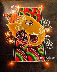 Free Hand Rangoli Design Ideas For Diwali Easy Rangoli Designs Diwali, Rangoli Designs Latest, Simple Rangoli Designs Images, Rangoli Designs Flower, Free Hand Rangoli Design, Small Rangoli Design, Rangoli Ideas, Rangoli Designs With Dots, Flower Rangoli