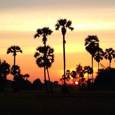 Photo by globotreks - Sunset in Siam Reap Cambodia